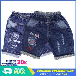 ComBo 2 Quần Short Jean bé trai chất vải cực đẹp - Cho bé từ 19-36kg [ ẢNH THẬT 100% DO SHOP CHỤP ] thumbnail