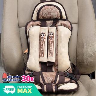 Ghế ngồi ô tô an toàn cho bé - Đai an toàn cho bé đi ô tô loại cao cấp Happy baby (Màu be ) thumbnail