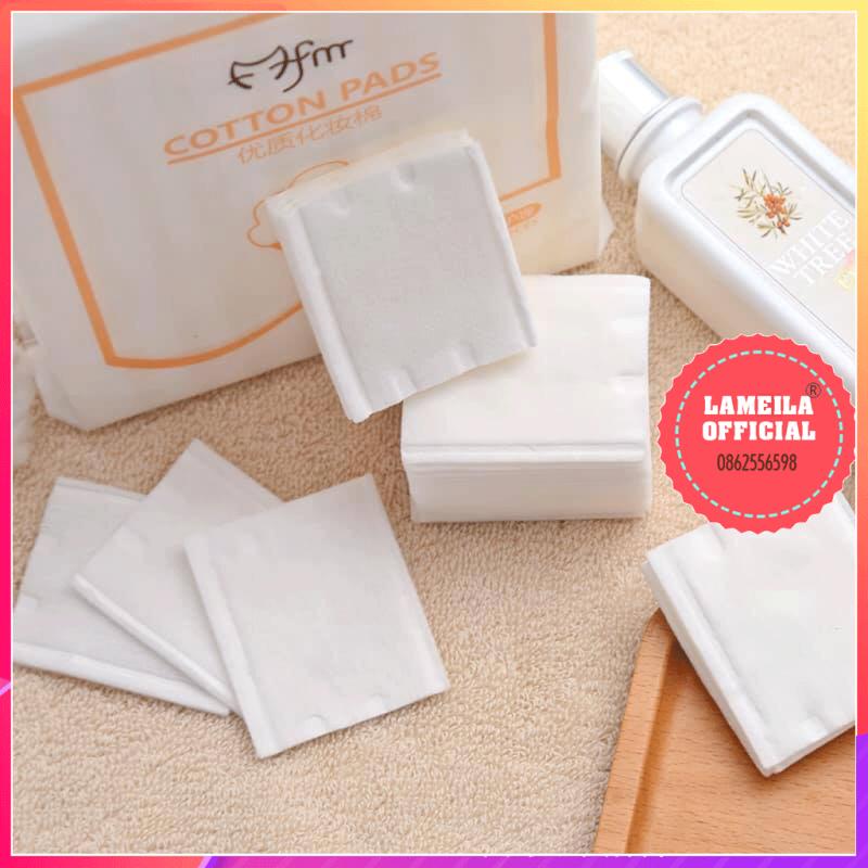 Bông tẩy trang 3 lớp Cotton Pads [Túi 222 miếng]