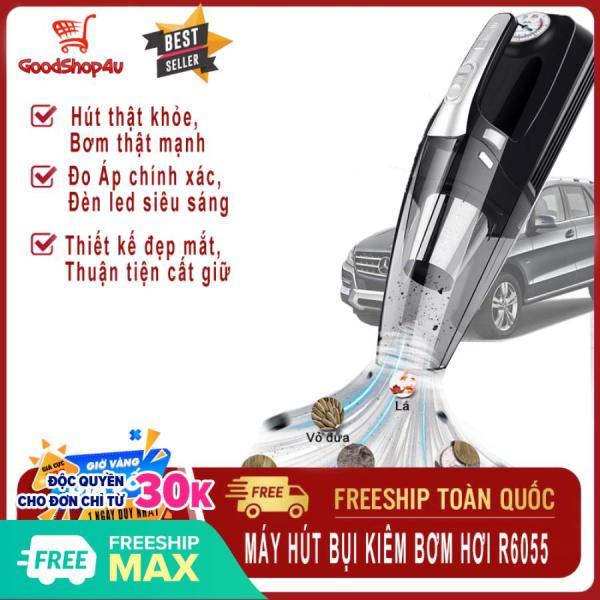 [HOT HOT] Máy hút bụi cầm tay kiêm bơm lốp xe cao cấp 120W R6055, Máy hút bụi mini đa năng 4 in 1 bơm lốp xe ô tô, xe hơi [Goodshop4u]