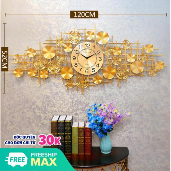 Đồng hồ treo tường trang trí phong cách hiện đại Lian576 Loại Lớn. Máy kim trôi không gây tiếng động. bán chạy