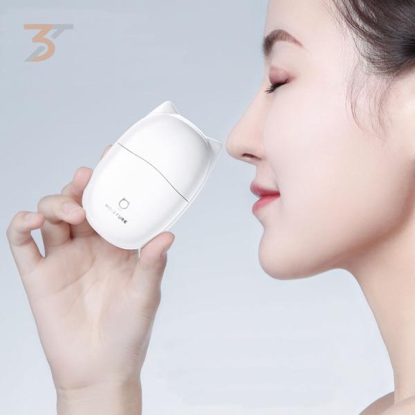 Máy phun sương mini chính hãng JisuLife, công nghệ tách nước Nano, 3 khay nước riêng biệt, giúp dưỡng ẩm da, không bị khô ráp, giúp chị em luôn xinh tươi, bảo hành chính hãng 12 tháng