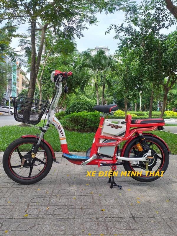 Mua xe đạp điện hiệu XENON giá tốt- không phí vận sài gòn- xe đạp điện - xe điện XENON màu đỏ- xe đạp điện HK bike - xe điện mẫu HK bike