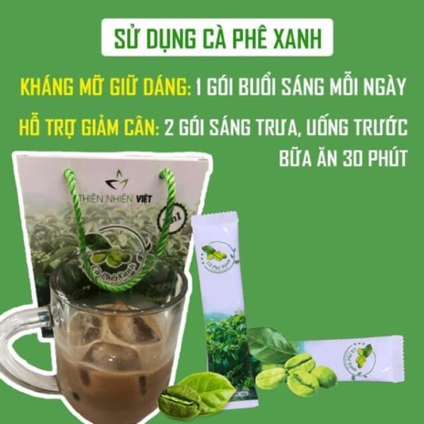 Cà phê xanh giảm mỡ Thiên Nhiên Việt (hộp 10 gói)