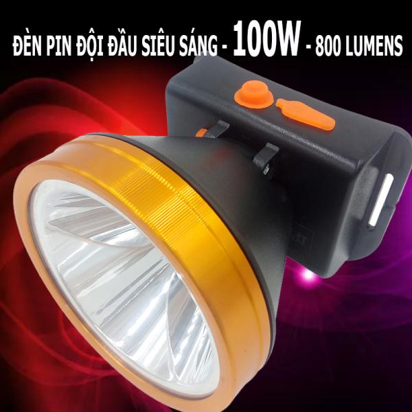 Bảng giá Đèn pin đội đầu GM668 - 100W - 800Lumens siêu sáng, chống nước, chiếu xa thời gian sử dụng lên tới 8 giờ (lựa chọn ánh sáng vàng và trắng)