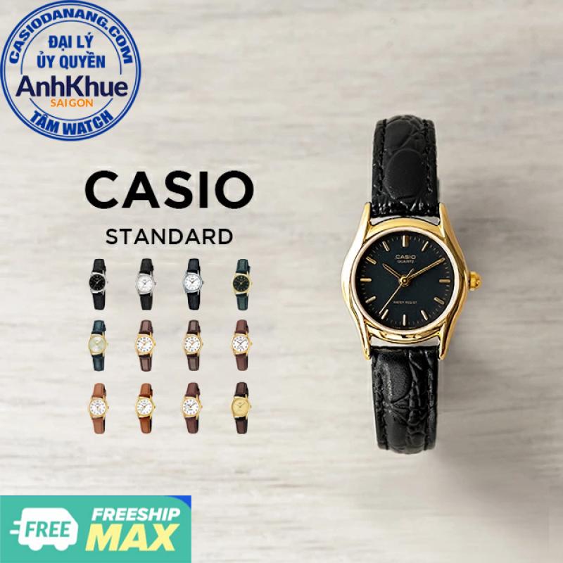 Đồng hồ nữ dây da Casio Standard chính hãng Anh Khue LTP-1094 Series (23mm)