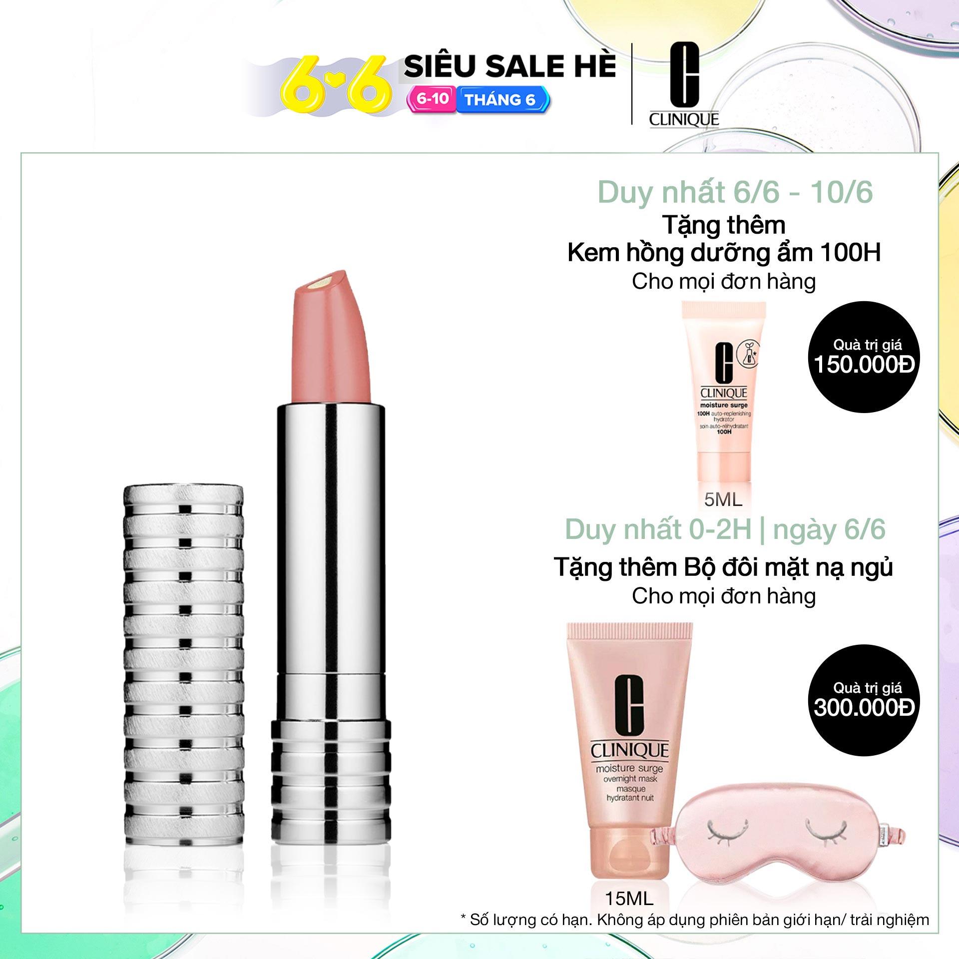 Son môi kết hợp dưỡng ẩm lõi ngọc trai Clinique Dramatically Different Lipstick Shaping Lip Colour 3g