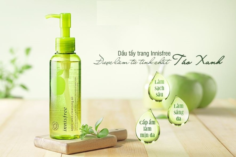Dầu Tẩy Trang Innisfree Apple Seed Cleansing Oil 150ml cao cấp
