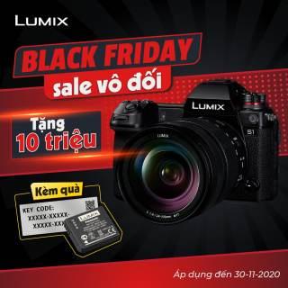 Máy ảnh Panasonic Lumix S1 chính hãng, Khủng long quay phim 4K HDR, Dynamic Range 14+, Chống rung tuyệt đỉnh 6.5 Stop, Pin trâu quay không giới hạn - Bảo hành 02 năm, Tặng Pin và Code Vlog