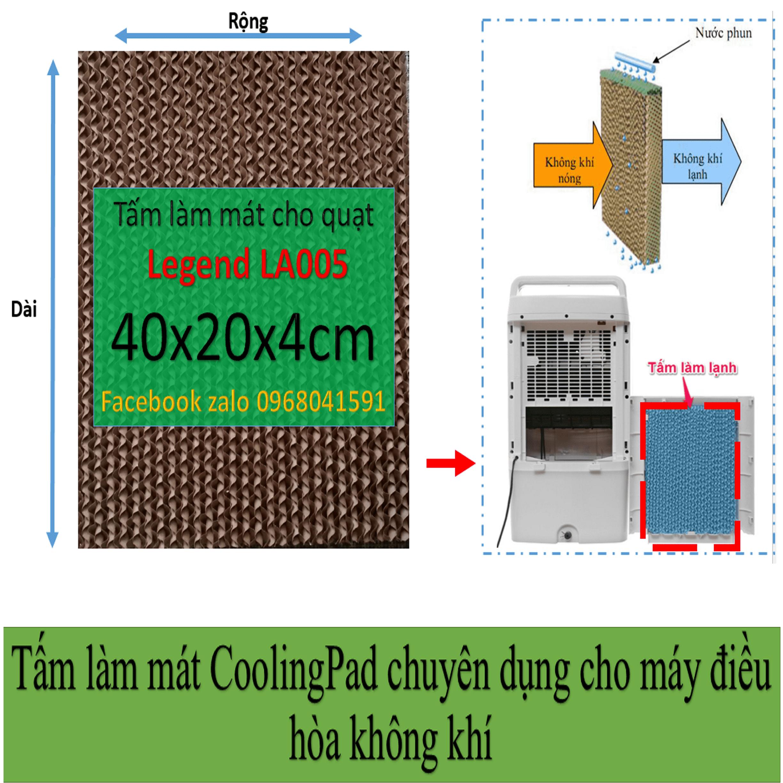 Tấm làm mát Cooling pad chuyên  dụng cho quạt điều hòa Legend LA005 kích thước 40x20x4cm