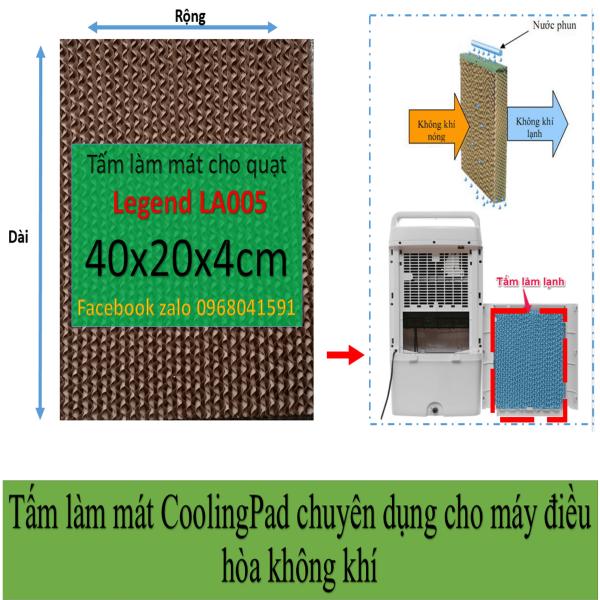 Bảng giá Tấm làm mát Cooling pad chuyên  dụng cho quạt điều hòa Legend LA005 kích thước 40x20x4cm Điện máy Pico