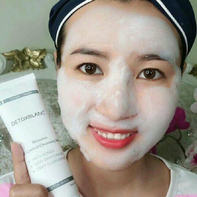 Mặt nạ sủi bọt thải độc da Detox Blanc  [CHÍNH HÃNG 100%] Nhật Bản