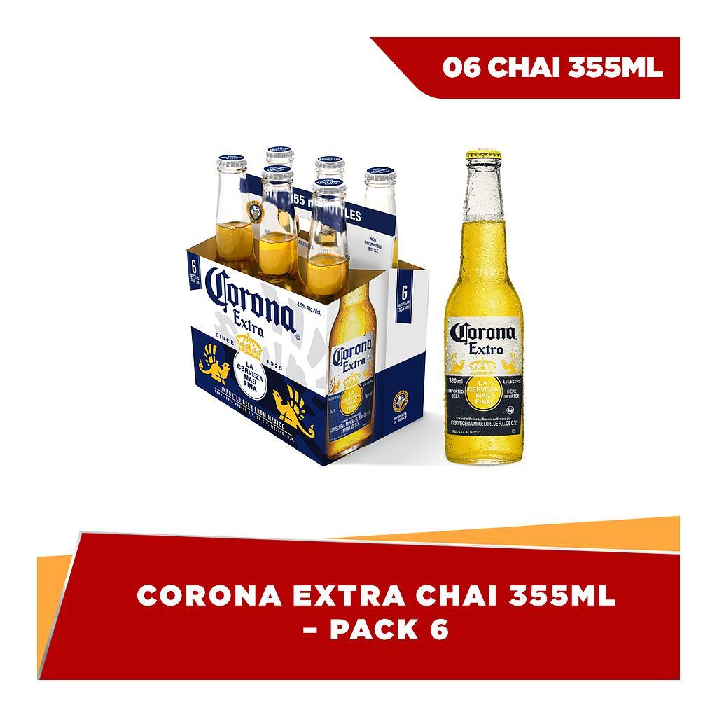 Corona Extra chai 355ml - pack 6 Nhật Bản