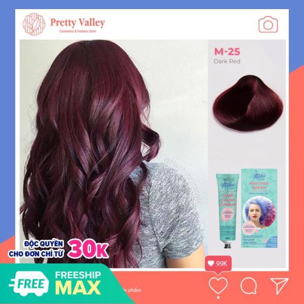 Kem nhuộm tóc cao cấp màu tím vang Molokai 60ml [ TẶNG KÈM GĂNG TAY + CHAI OXY TRỢ DƯỠNG TÓC ] giá rẻ