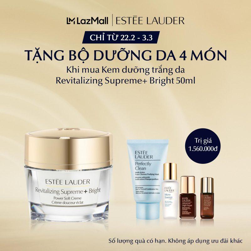 [MỚI] Kem dưỡng trắng và chống lão hóa Estee Lauder Revitalizing Supreme+ Bright Power Soft Crème - Moisturizer 50ml