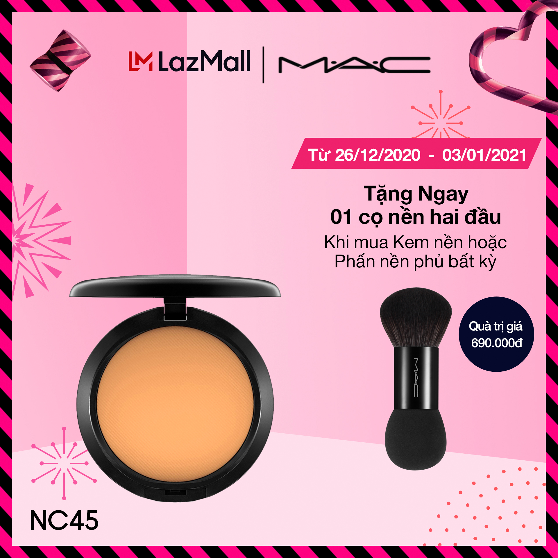 Phấn nền phủ MAC Studio Fix Powder Plus Foundation 15g