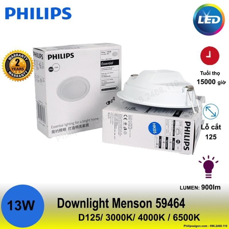 [HCM]Đèn Downlight Led Philips Meson 59464 13W 3000/4000/6500K (Φ125). Tích hợp công nghệ bảo vệ mắt Mycare Bảo hành 2 năm. Có 3 màu ánh sáng để lựa chọn. Thiết kế tinh tế và chất lượng.