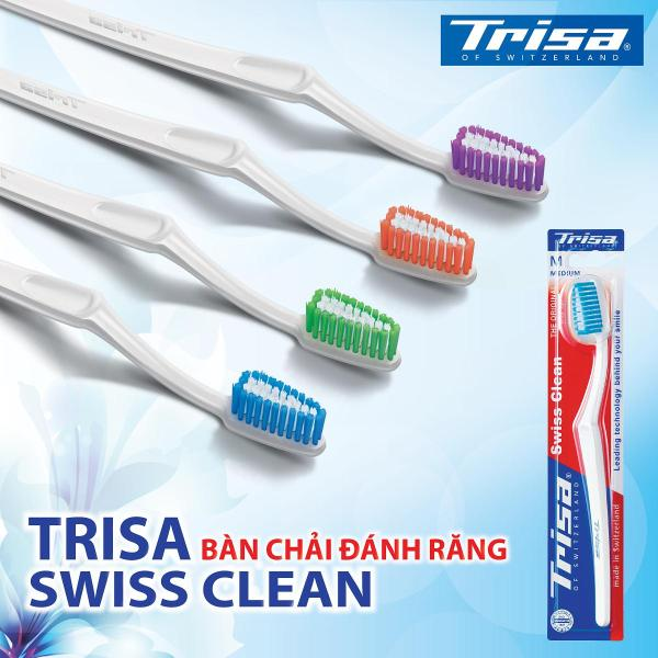 Combo 4 Bàn Chải Trisa Swiss Clean Vừa (Medium)