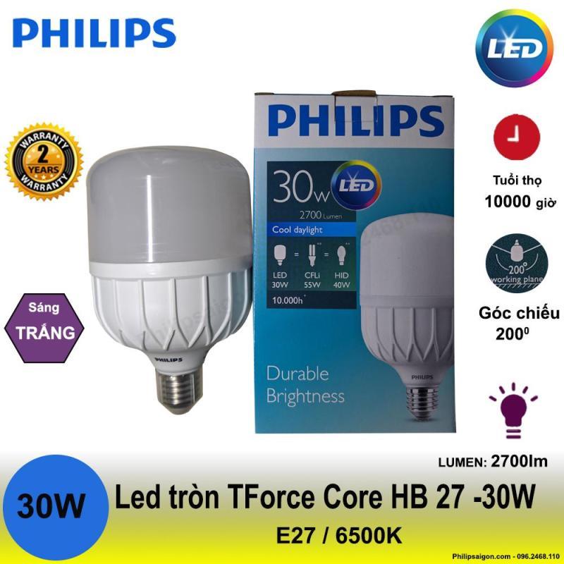 Bóng đèn Led Philips trụ tròn 30W E27 - siêu sáng 2700lm- bảo hành 24 tháng