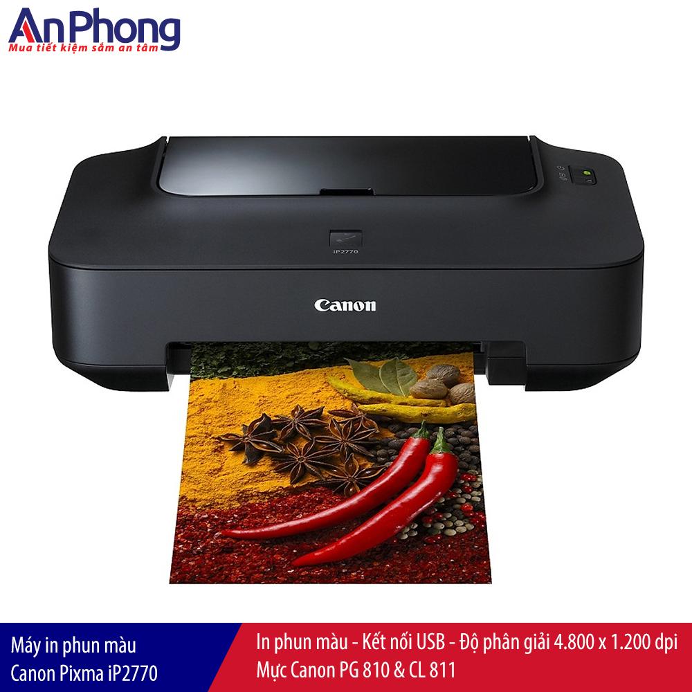Máy in phun màu Canon Pixma iP2770, kết nối USB, bảo hành 12 tháng