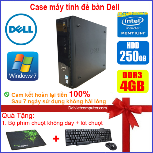 Bảng giá Case máy tính để bàn DEL CPU Dual Core E5xxx / Core i3-4130 / Ram 4GB / HDD 250GB-500GB / SSD 120GB-240GB [QUÀ TẶNG: Bộ chuột phím không dây + lót chuột] Phong Vũ