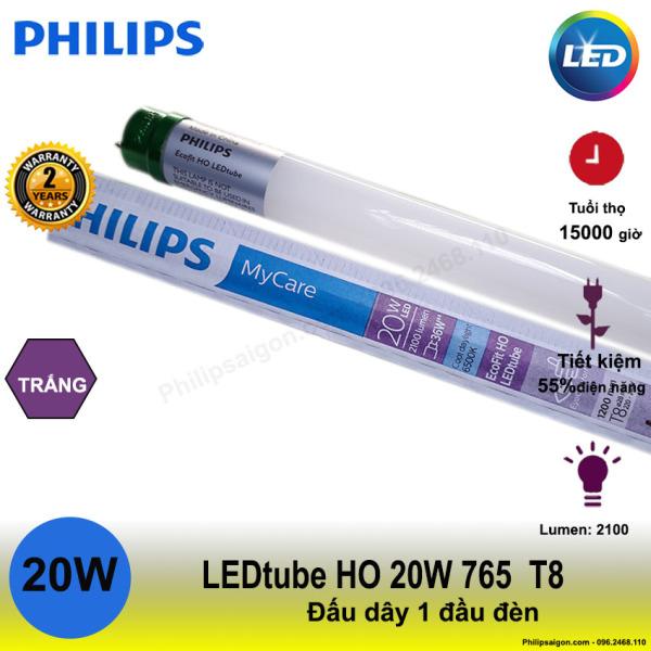 (Bộ 10) Bóng LED Tuýp Philips Ecofit HO 20W 1m2 - đi điện 1 đầu, thay thế tuýp huỳnh quang, chất lượng ánh sáng cao - Philipsaigon ( Bảo hành 24 Tháng)