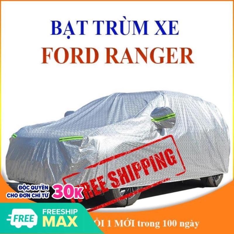 Bạt phủ xe ô tô Ford Ranger bán tải với 3 lớp tráng nhôm chống nắng, mưa, bụi bẩn TẶNG kèm túi du lịch tiện lợi