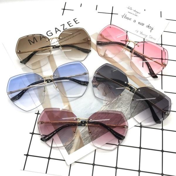 Giá bán Kính mát thời trang không khung đa giác nhiều màu phong cách trẻ trung bảo vệ mắt chống tia UV đạt tiêu chuẩn ANSI của Hoa Kì - Kính râm nữ 034