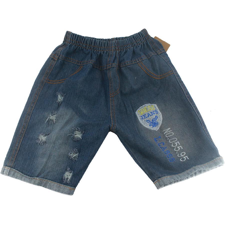 Quần jean cotton bé trai, Quần short jean cotton bé trai 3-10 tuổi