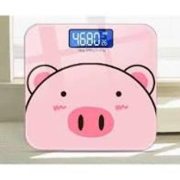 Cân Điện Tử Sức Khỏe Hình Lợn Màu Hồng Cực Xinh, Độ Chính Xác Cao(tặng kèm pin)