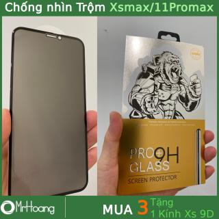 Kính cường lực Chống Nhìn Trộm Iphone 11 Pro max, Xs Max full màn KingKong cao cấp (Miếng Dán Cường Lực Iphone 11ProMax, XsMax, Iphone 11 Promax) thumbnail