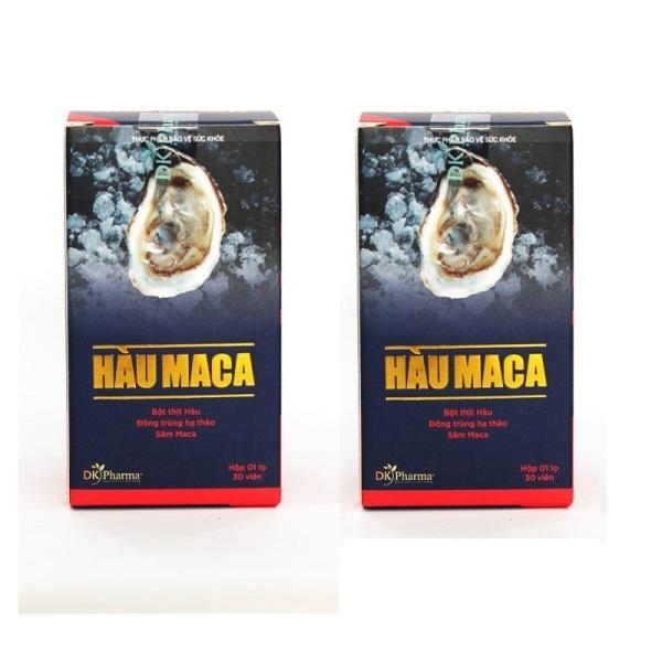 Bộ 2 hộp Viên Uống Tăng Cường Sinh Lý Nam Giới HÀU MACA 30 viên x 2 nhập khẩu