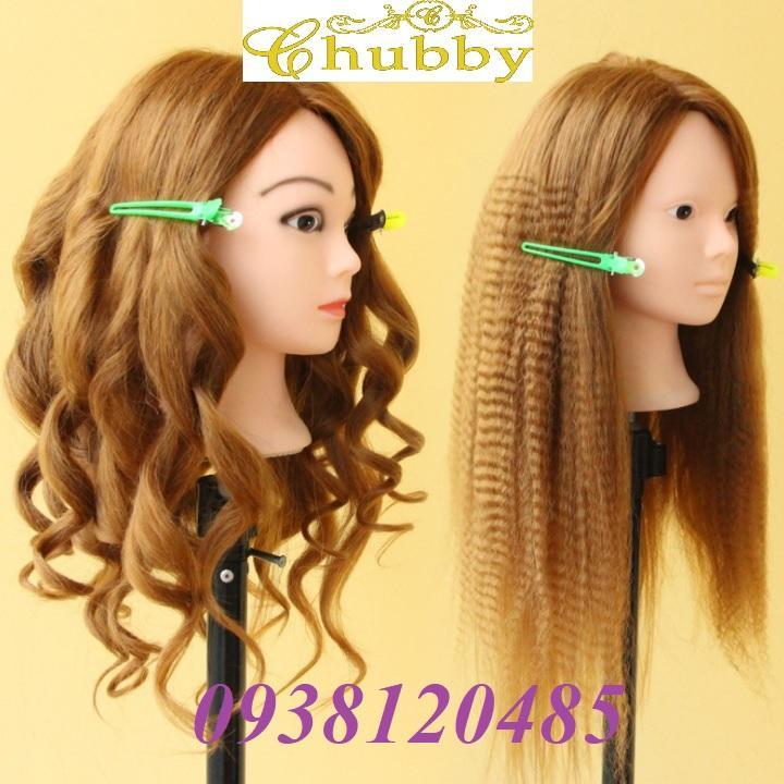 Đầu Manocanh cho người học làm tóc và trang điểm cô dâu 85% tóc thật