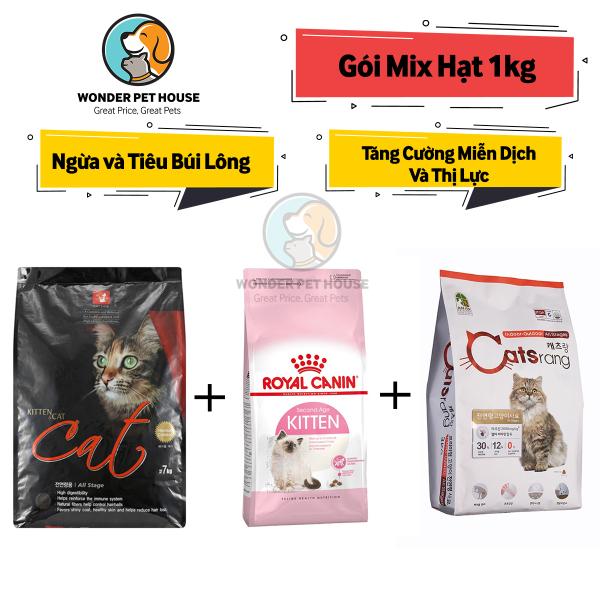 [HẠT KHÔ] GÓI MIX CATSRANG CATSEYE CANIN (Gói chia 1kg) - Thức ăn cho mèo Tiêu Búi Lông - Tăng Cường Hệ Miễn Dịch - CATRANG/ CATS RANG/ CAT EYE / ROYAL CANIN