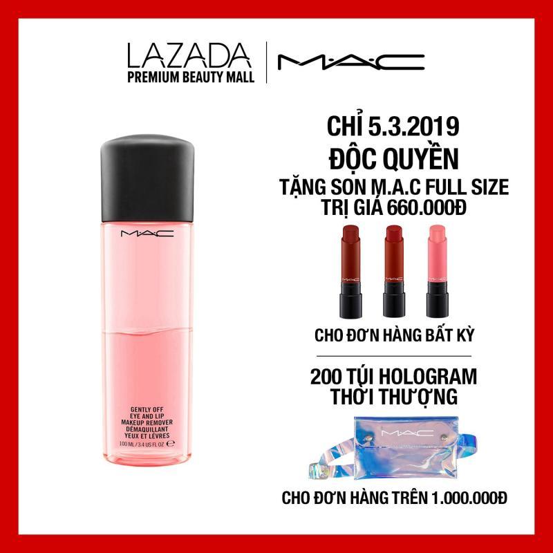 Tẩy trang mắt môi chuyên dụng MAC Cleansers Gently Off Eye And Lip Makeup Remover 100ml tốt nhất