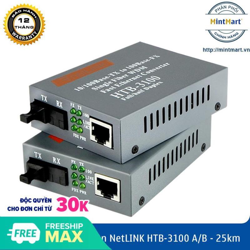 Bảng giá Bộ Chuyển đổi quang điện netLINK HTB-3100 A/B (1 Cặp) - Converter quang điện netlink HTB 3100 AB Phong Vũ