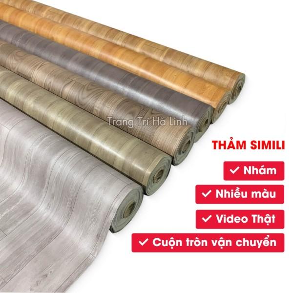 Thảm Nhựa Simili Trải Sàn - Tấm Simili Lót Sàn Nhà Vân Gỗ Nhám PVC Màu Xám Khổ 1 Mét Đẹp Giá Rẻ  Trang Trí Hà Linh