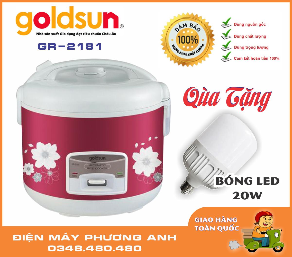 Bảng giá Nồi cơm điện Goldsun nắp gài 1.8L GR-2181 + Tặng Bóng LED Bulb 20W trị giá 100K Điện máy Pico