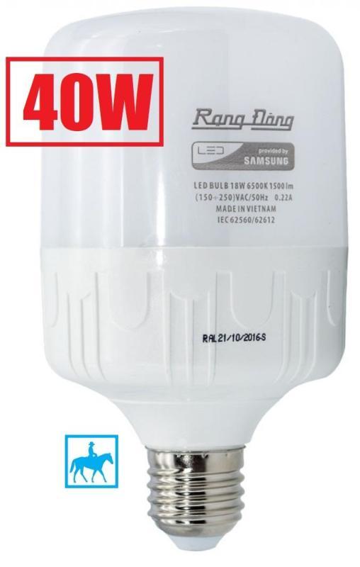 Bóng đèn Rạng Đông 40W LED Bulb trụ E27 220V