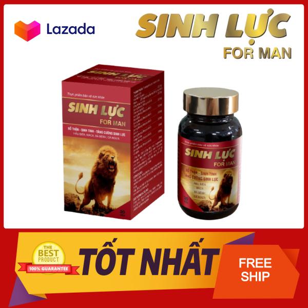 01 hộp SINH LỰC FOR MAN 30 Viên Uống Tăng Cường Sinh Lý Nam Giới. cao cấp