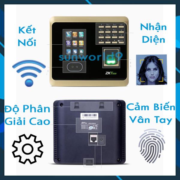 Bảng giá May cham cong van tay, Máy chấm công bằng vân tay, Kiểm soát ra vào vân tay, Lắp đặt máy chấm công Máy Chấm Công Nhận Diện Khuôn Mặt + Dấu Vân Tay + Mật Khẩu ZKTeco - Kết Nối Wifi, Máy Tính, Điện Thoại Tốc Độ Cao ZKTeco UF100 Bảo H