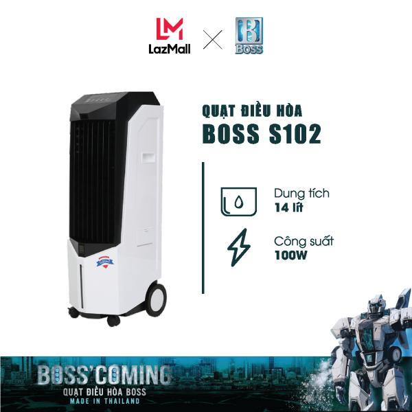 Bảng giá Quạt điều hòa Boss S102 - 14 lít - 100W   Bảo hành 12 tháng chính hãng   Made in Thailand