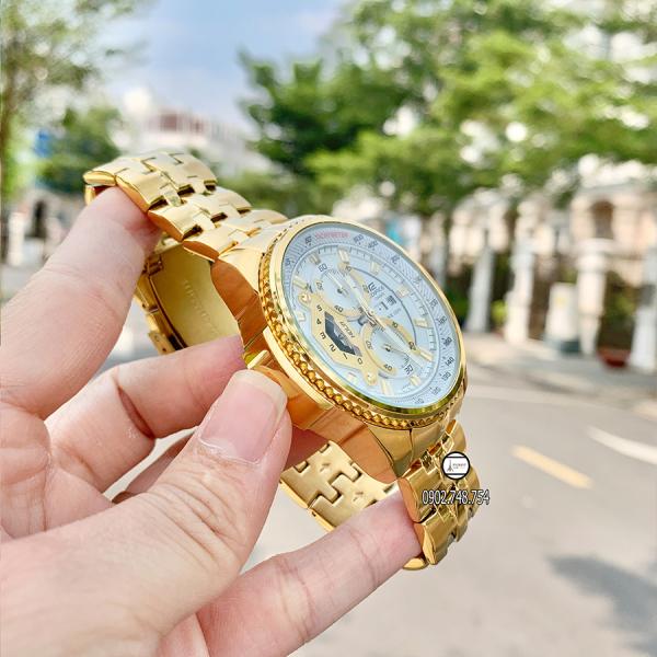Đồng Hồ Nam, Đồng Hồ CSO EFR-558 Dây vàng mặt trắng bán chạy