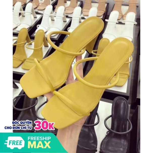 Giày cao gót nữ 8p dây mảnh tròn sành điệu 2020 giá rẻ