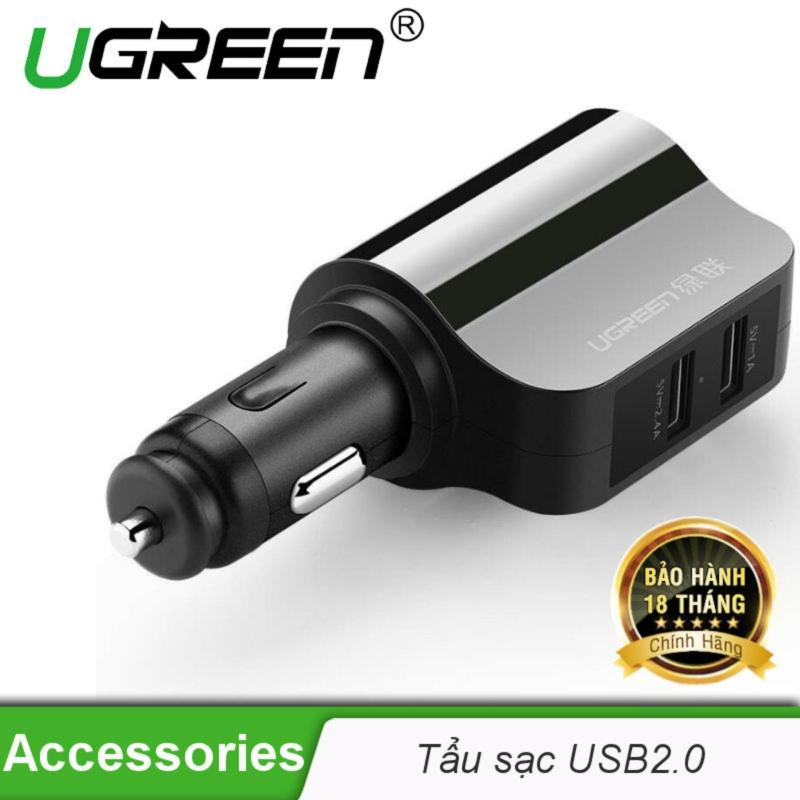 Sạc điện thoại/máy tính bảng 2 cổng USB 2.0 trên ô tô UGREEN CD115 20394