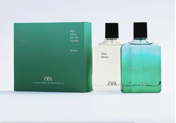 Nước hoa nam ZARA MAN SILVER + MAN SILVER WINTER EDT 100 ML (3.4 FL. OZ). nhập khẩu