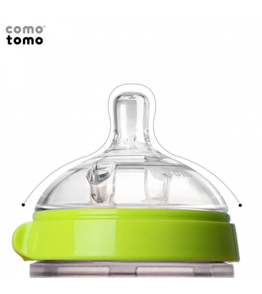 Bình sữa silicone Comotomo 150ml -Xanh