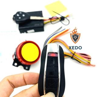 Bộ chống trộm điều khiển từ xa loại 4 nút 1 chìa khóa, 1 remote cho xe máy thumbnail