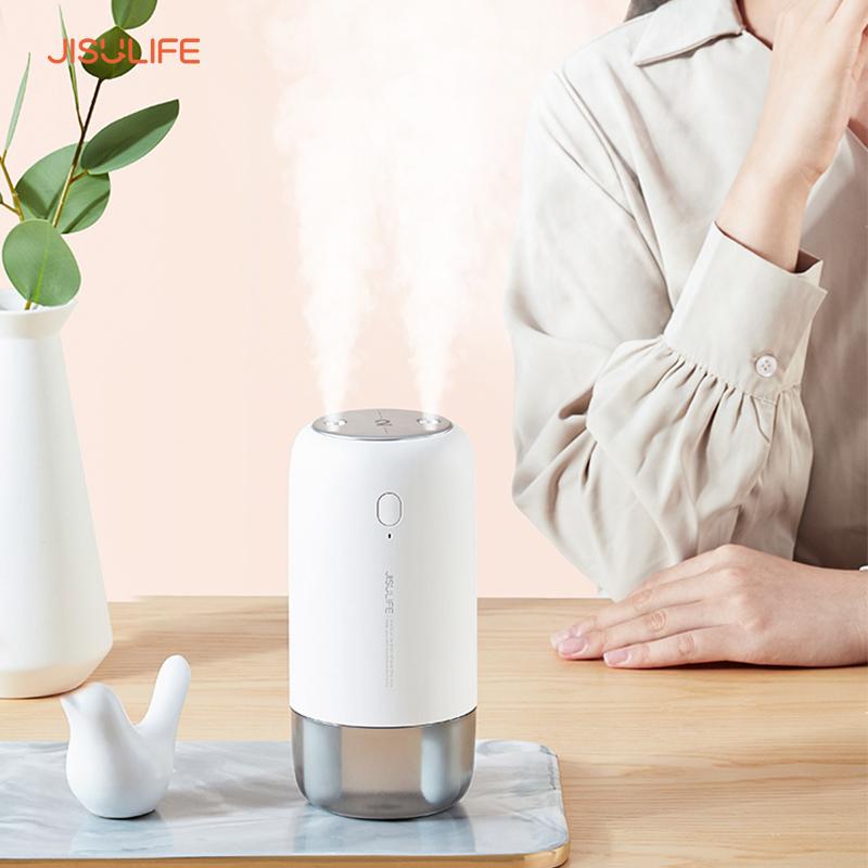 Máy phun sương 2 vòi chính hãng JisuLife, phun sương tạo ẩm không khí và da không bị khô, giảm nhiệt độ phòng, có thể dùng kèm tinh dầu, bảo hành chính hãng 12 tháng