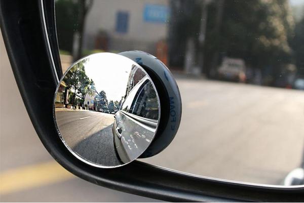 Cặp Gương cầu lồi 360 xóa điểm mù 5cm KHÔNG VIỀN gắn kính chiếu hậu ô tô, xe máy không viền kiếng 2 gương